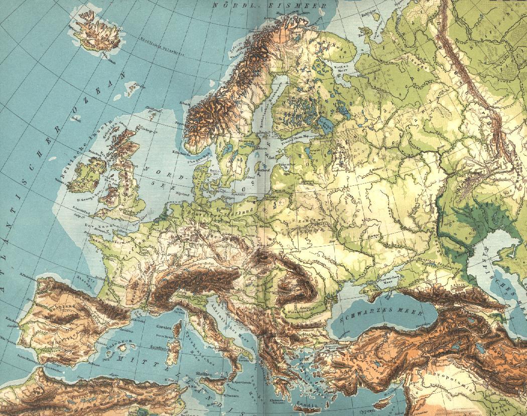 topografisk kart over europa Den europeiske sletta – Wikipedia topografisk kart over europa
