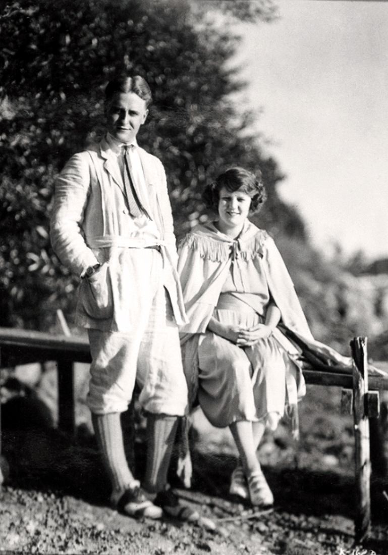 F Scott Fitzgerald and wife Zelda September 1921
