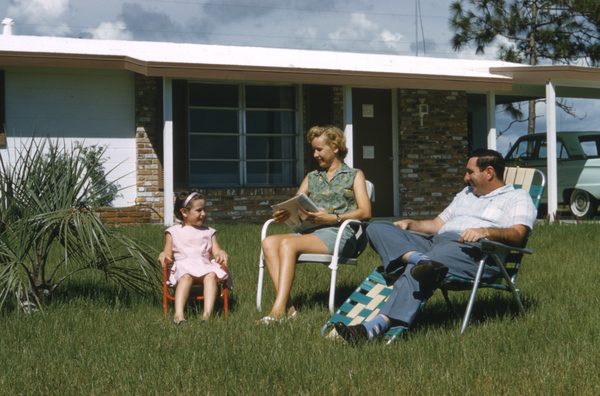 Family in front of their home- Venice East, Florida (8865570965)