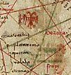 Flag of Serbia on the map of Angelino Dulcert (1339).