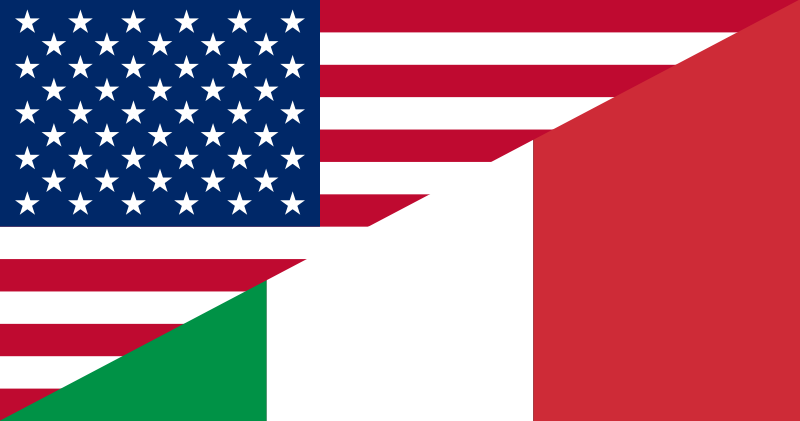 Image result for american italian flags