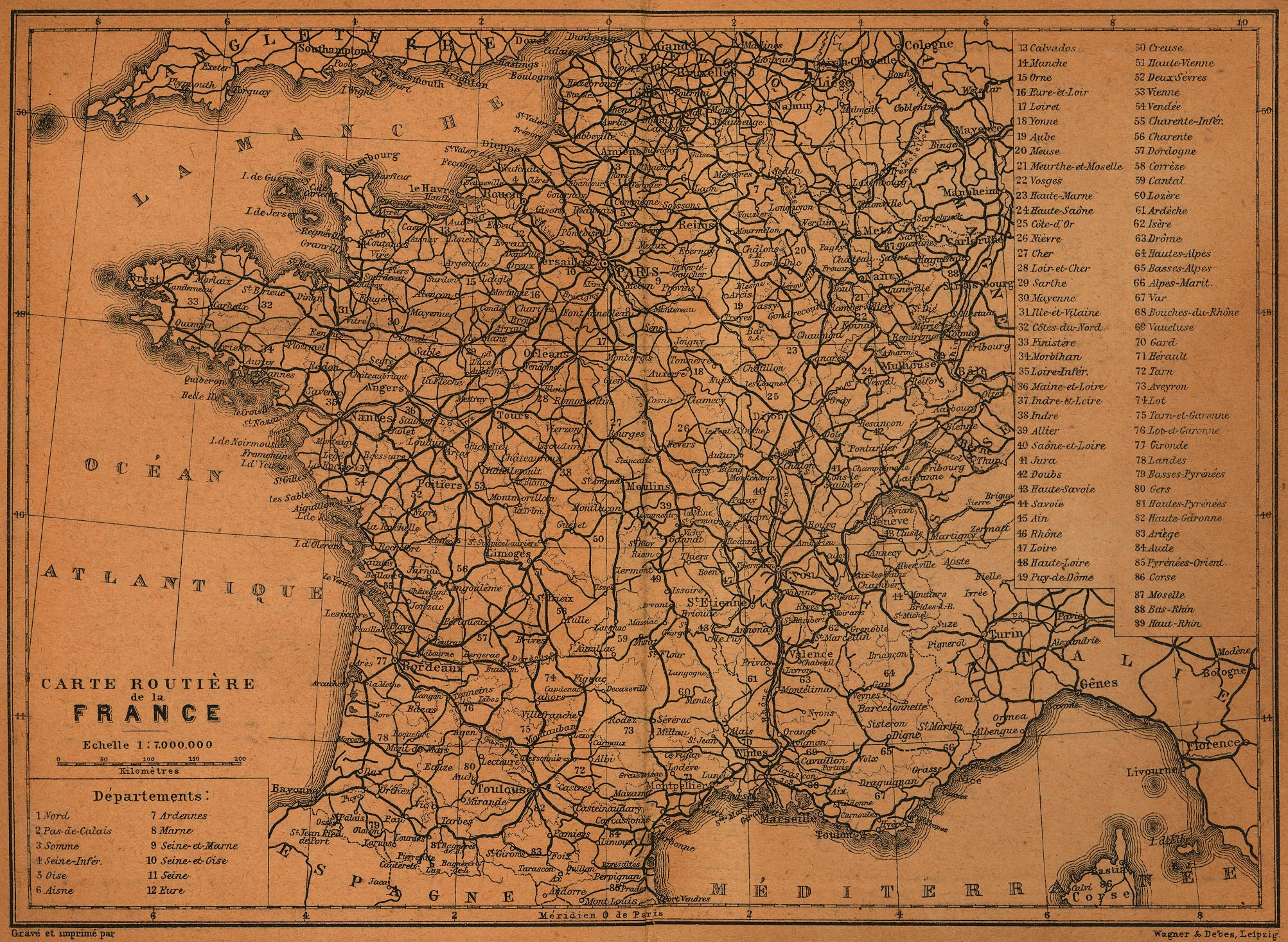 Detailed Road Map Of France.Route Nationale 98 Wikipedia