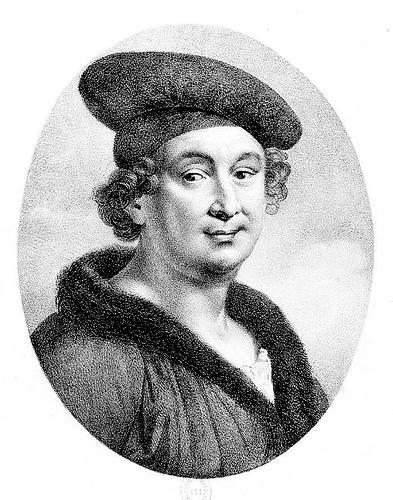 Imaginative portrait of François Villon by lithographer Ludwig Rullmann, c. 1800