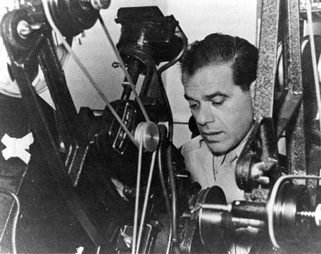 Frank Capra behind the camera