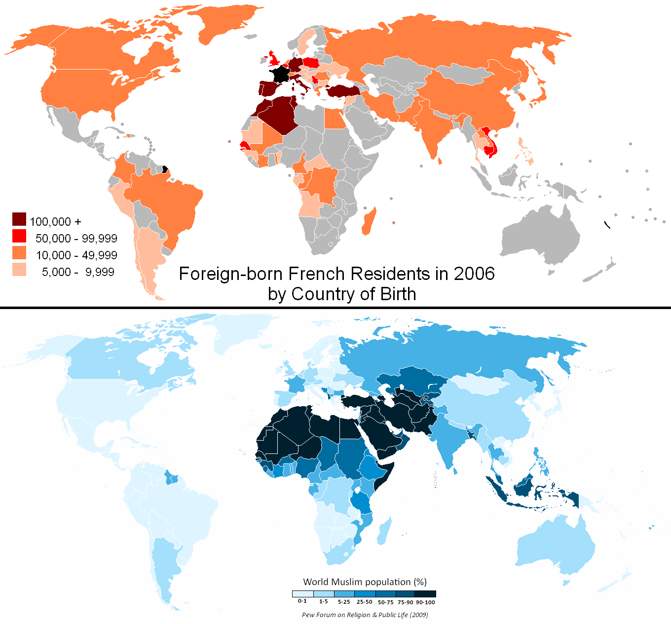 FileFrench Residency By Country Of Nationality World - Muslim population in world