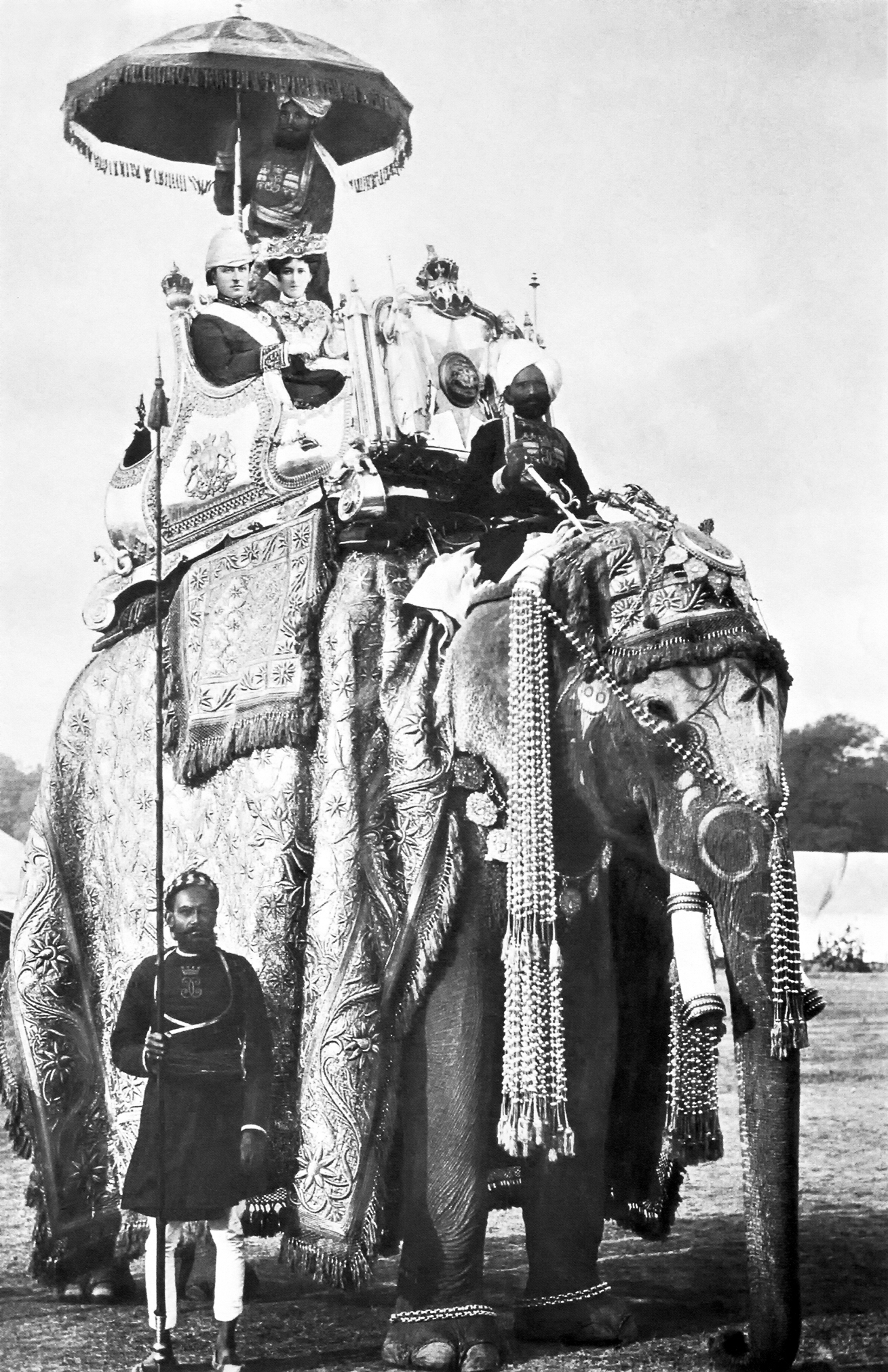 file george curzon and mary curzon on the elephant lakshman prasad