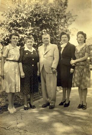 Geremia Lunardelli con la famiglia