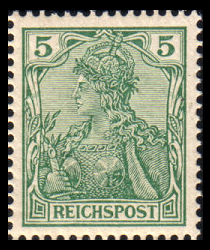 Germania Stamp From The 1900 Issue