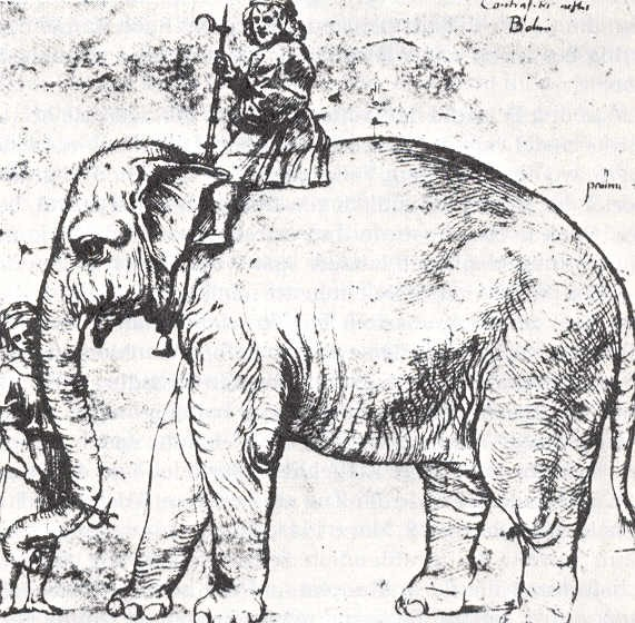 Sketch of Hanno and mahout, after Raphael, c.1514.