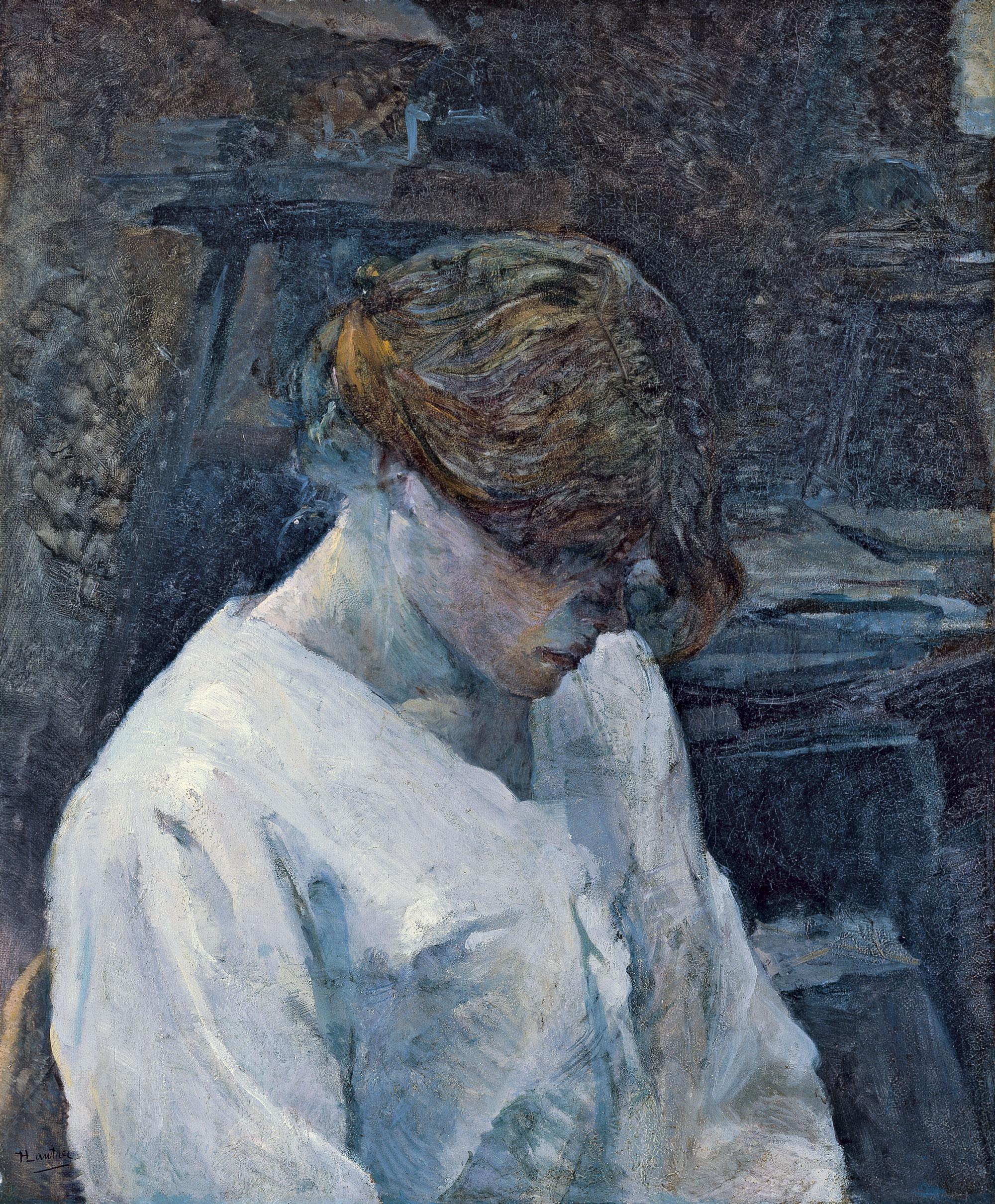 Resultado de imagen de la pelirroja con blusa blanca