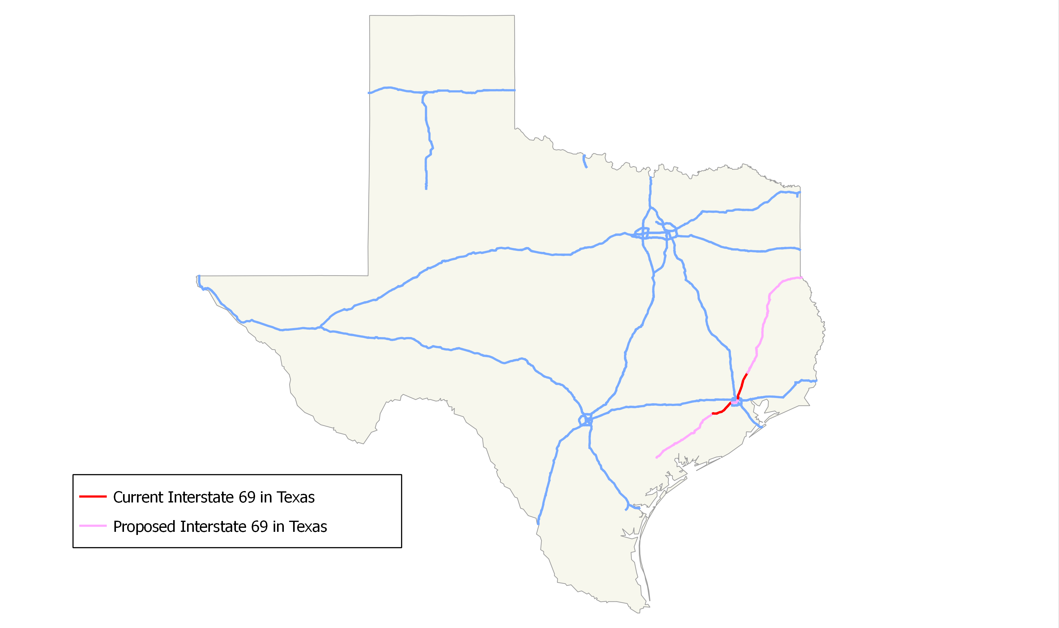 Map Of Interstate 69 In Texas.File Interstate 69 In Texas Png Wikimedia Commons