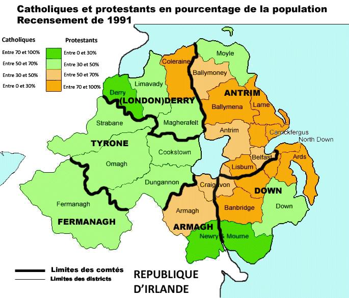 Plus Grands Villes Irlande Du Nord