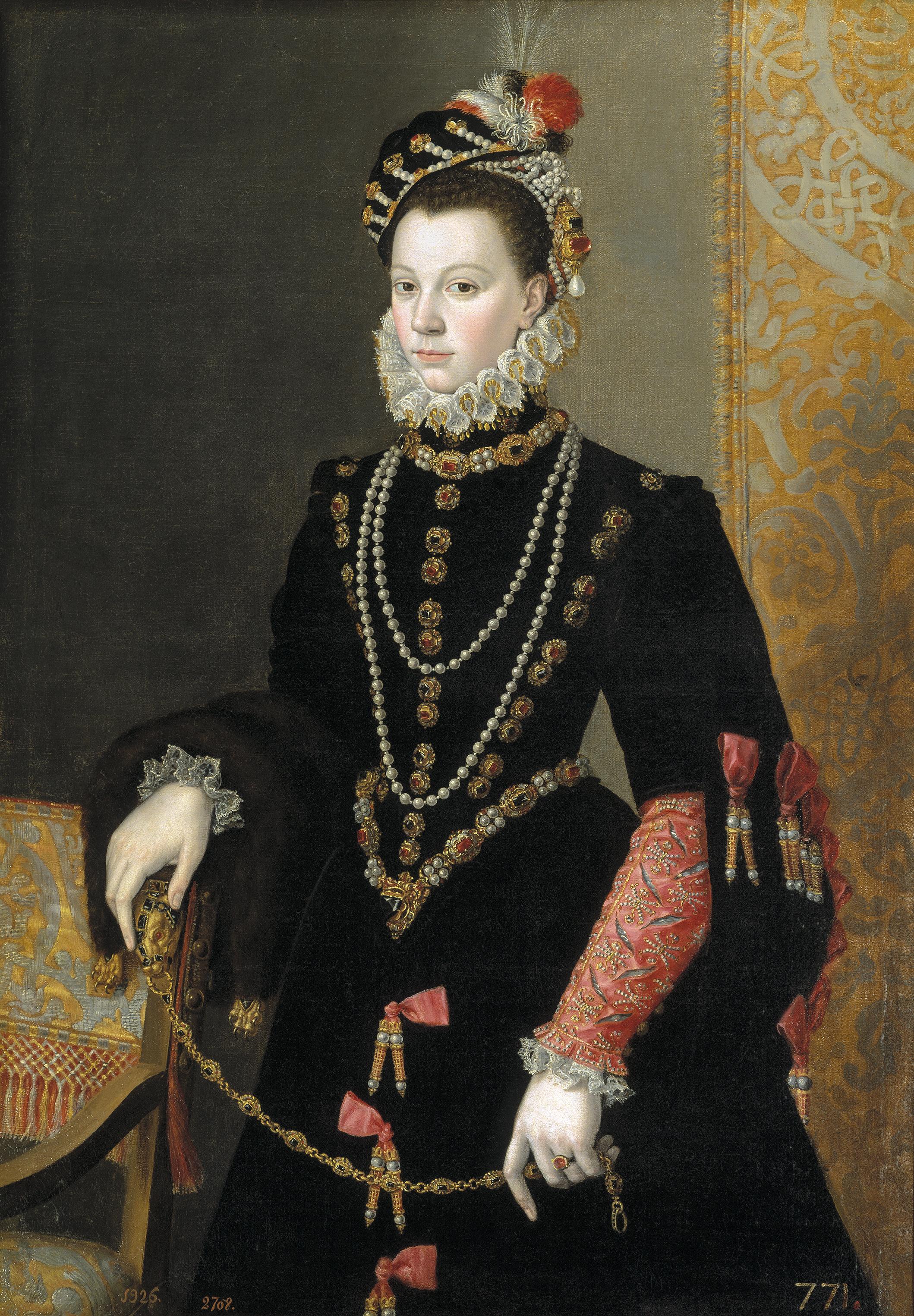 Chaise Cuisine Tissu : Isabelle de Médicis attribué à Alessandro Allori Élisabeth de