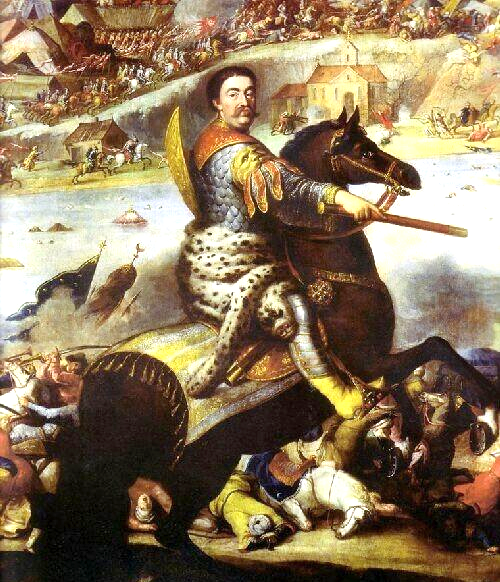 Plik:John III Sobieski in battle of Khotyn 1673.PNG