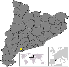 Location of Reus in Catalonia