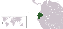 Location of Ecuador