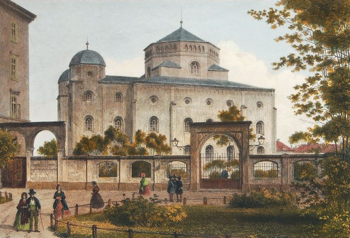 Datei:Louis Thümling nach Hermann Krone - Alte Synagoge in Dresden (1850-70) cropped.png