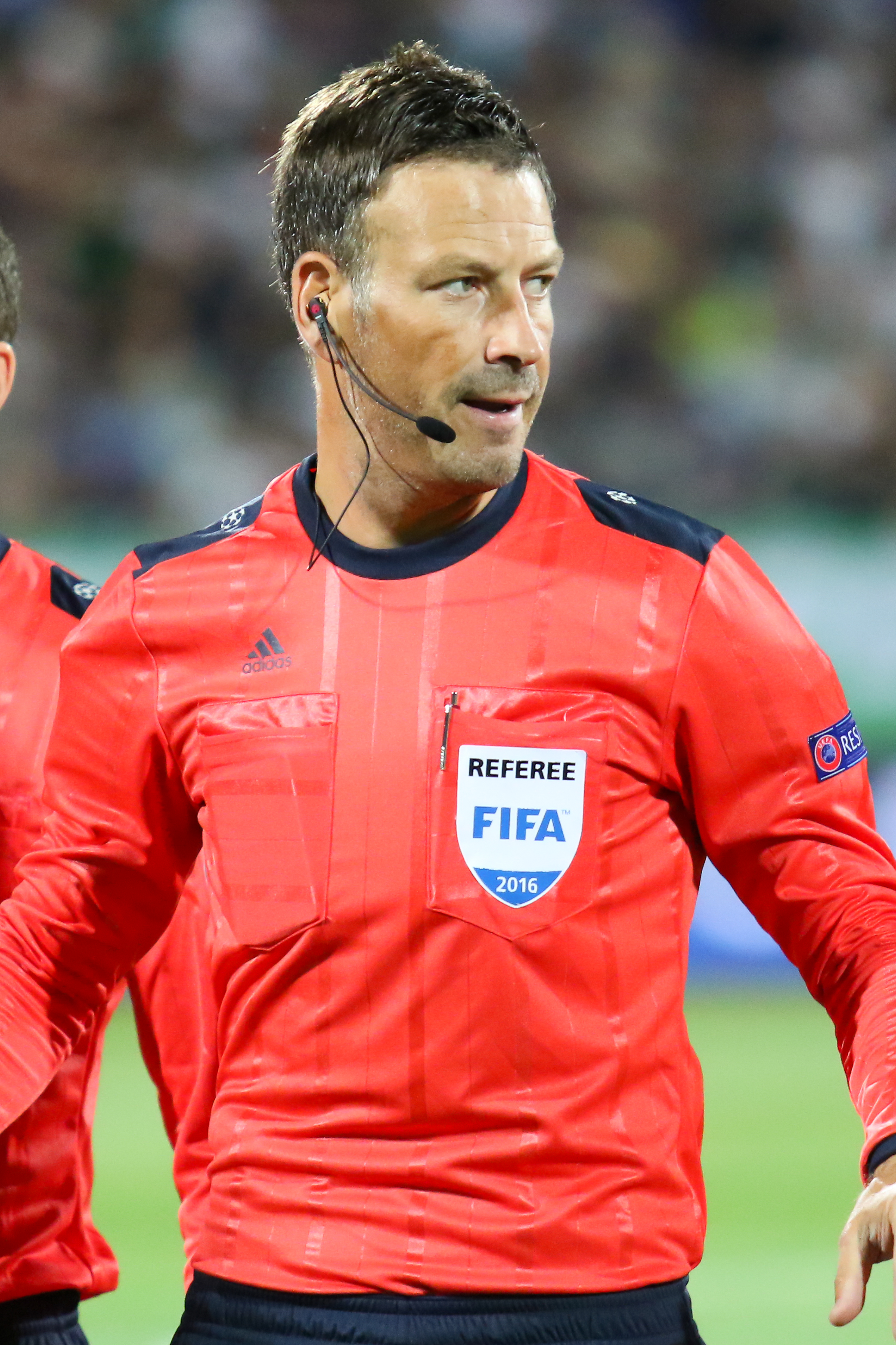The 43-year old son of father (?) and mother(?) Mark Clattenburg in 2018 photo. Mark Clattenburg earned a  million dollar salary - leaving the net worth at 1 million in 2018
