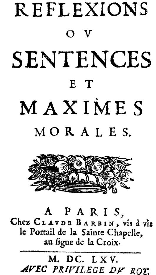 Reflexions Ou Sentences Et Maximes Morales Wikipedia