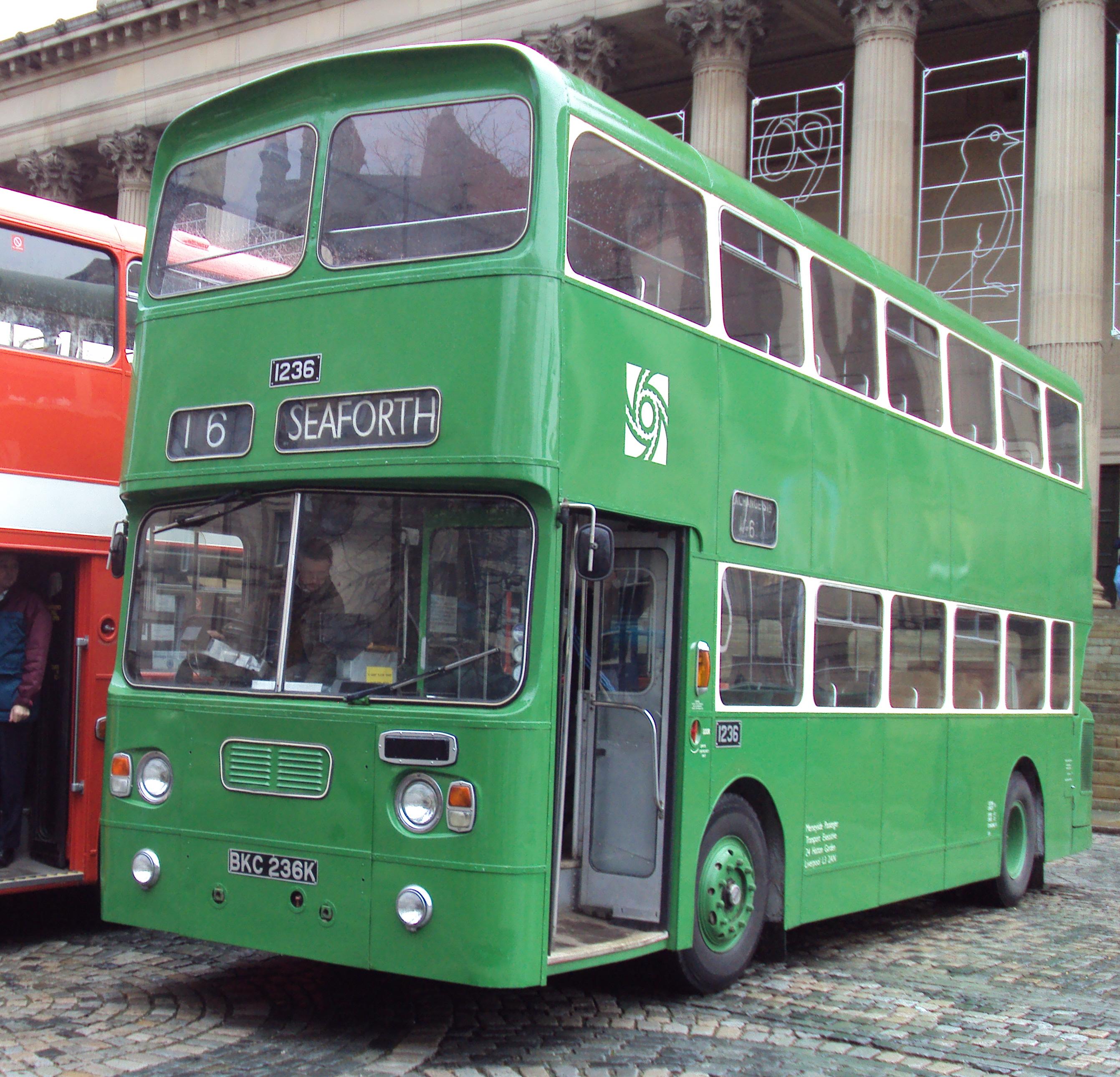 File:Merseyside PTE preserved bus 1236 Leyland Atlantean Alexander AL BKC  236K Liverpool division green
