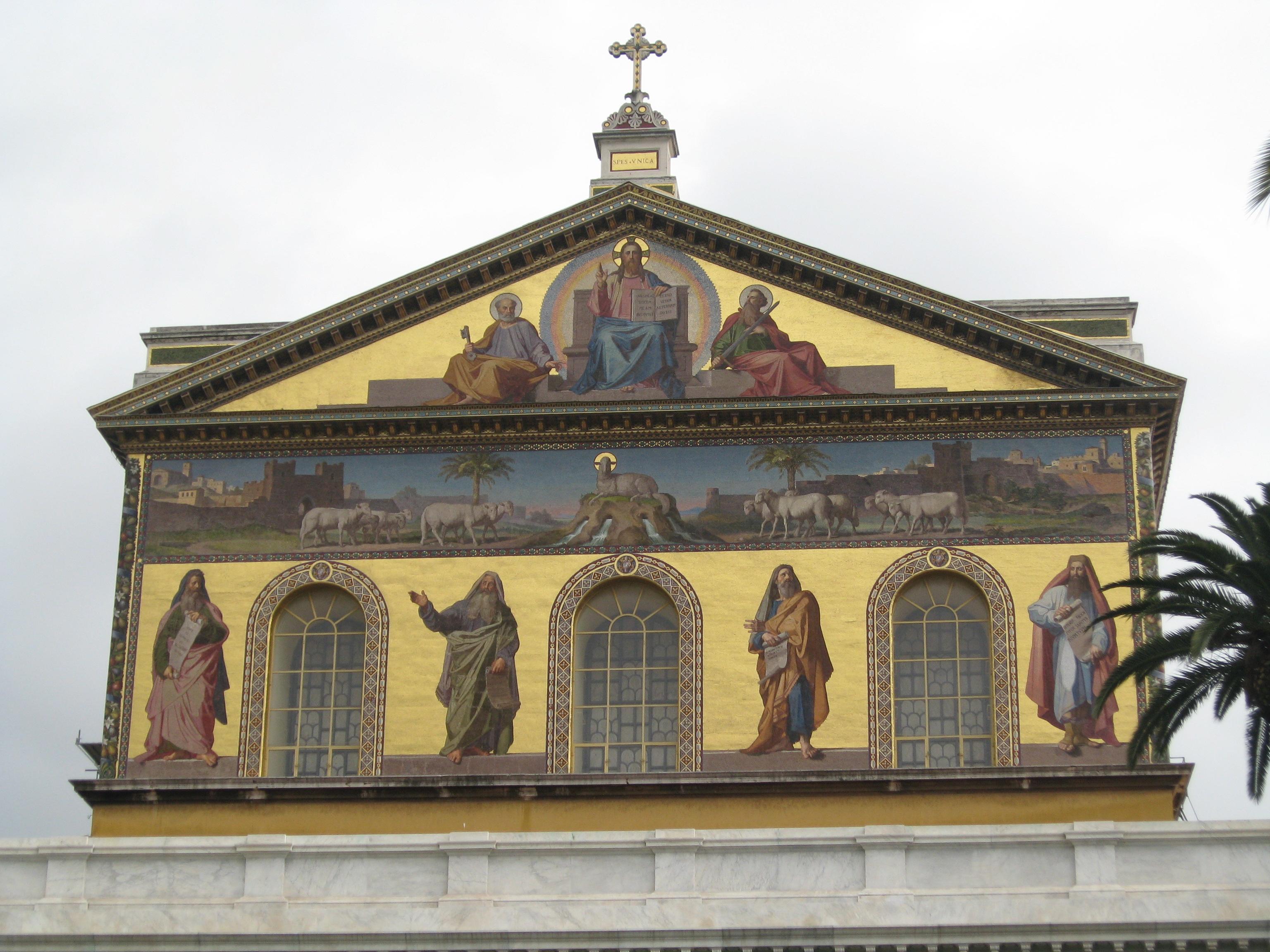 I mosaici della facciata