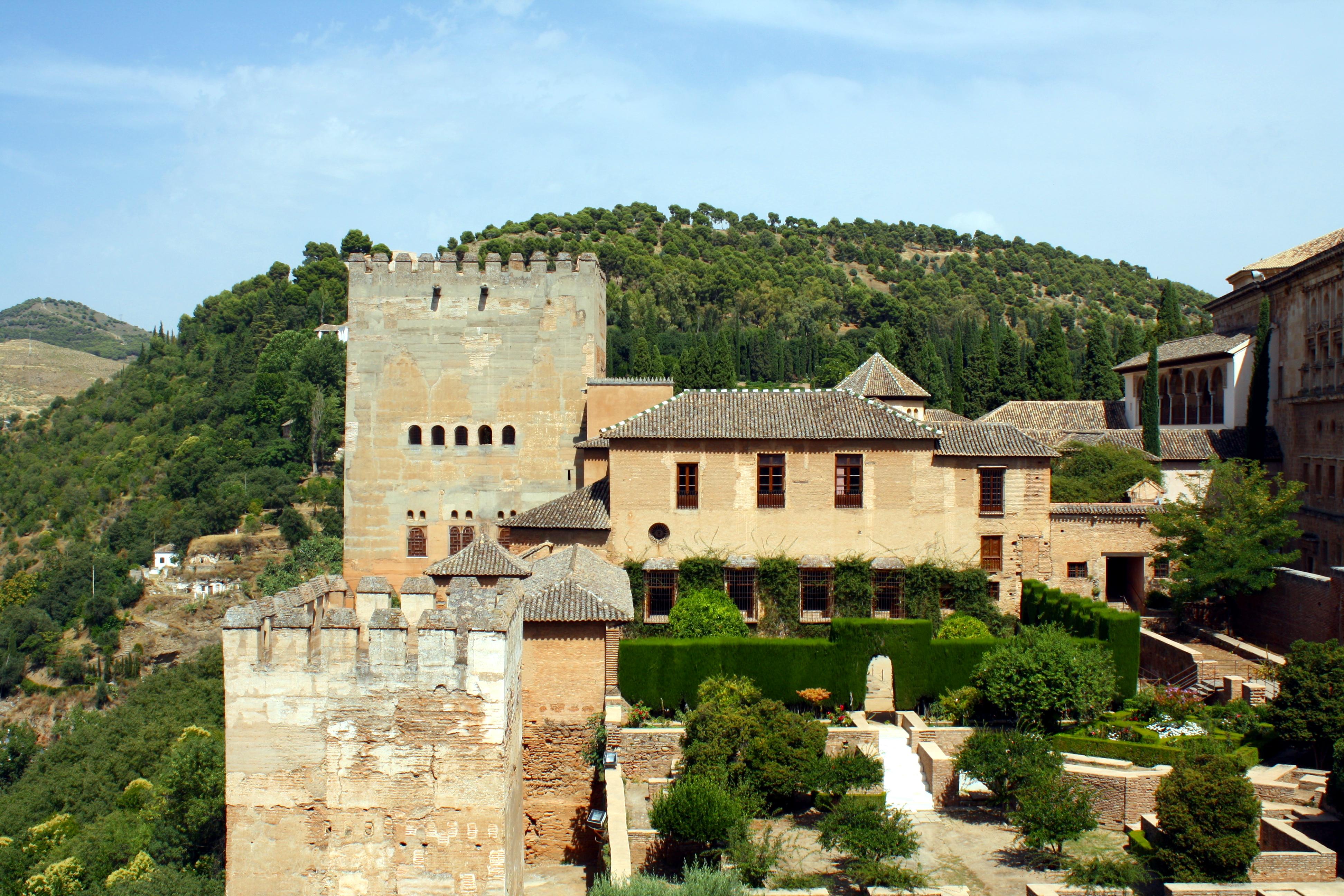 Archivo muralla palacios y jardines de la alhambra jpg for Jardines alhambra