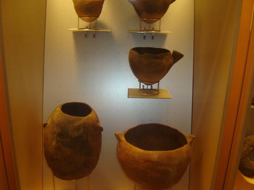 Some pottery believed to date back to the time of the Guanches