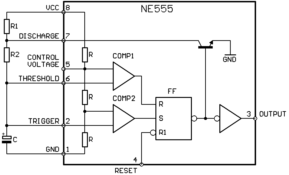 Filene555 Astable Wikimedia Commons The 555 Timer Circuit