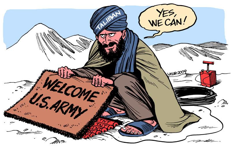 English: Obama Taliban