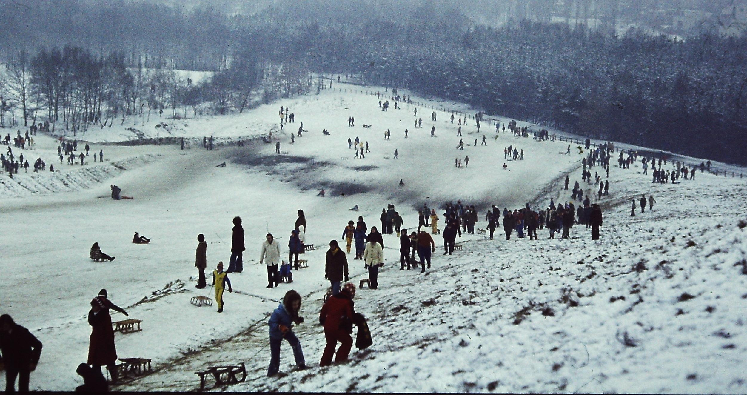 Rodeln am Teufelsberg, 1978
