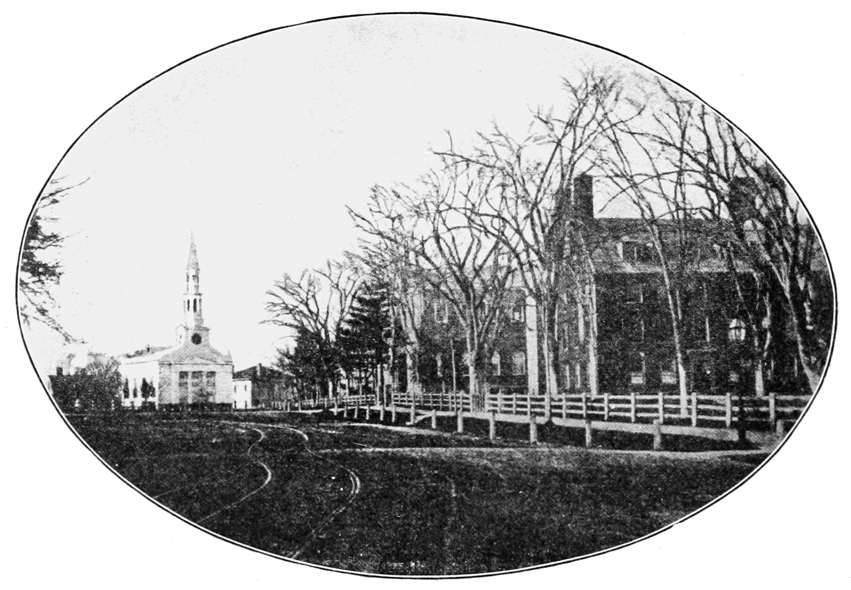 PSM V76 D418 Harvard university grounds around 1857.png
