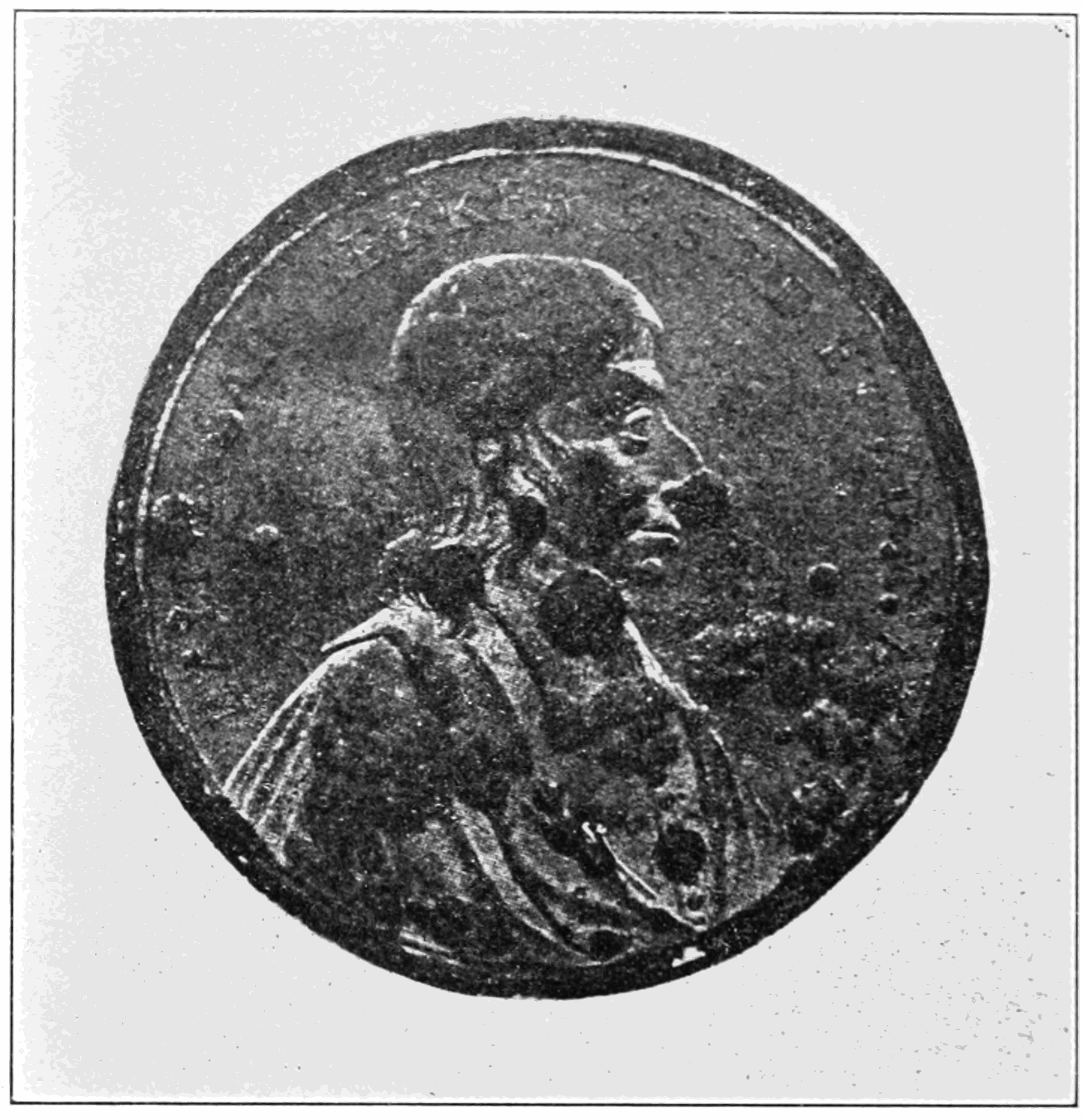 PSM V83 D034 Two hundred year old medal affected by tin disease.png