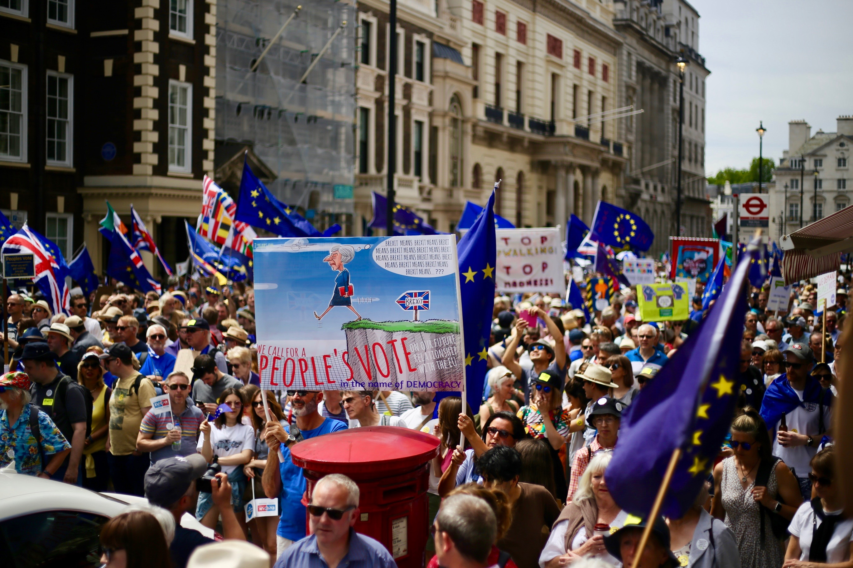 People's vote on Brexit march, London, June 23, 2018