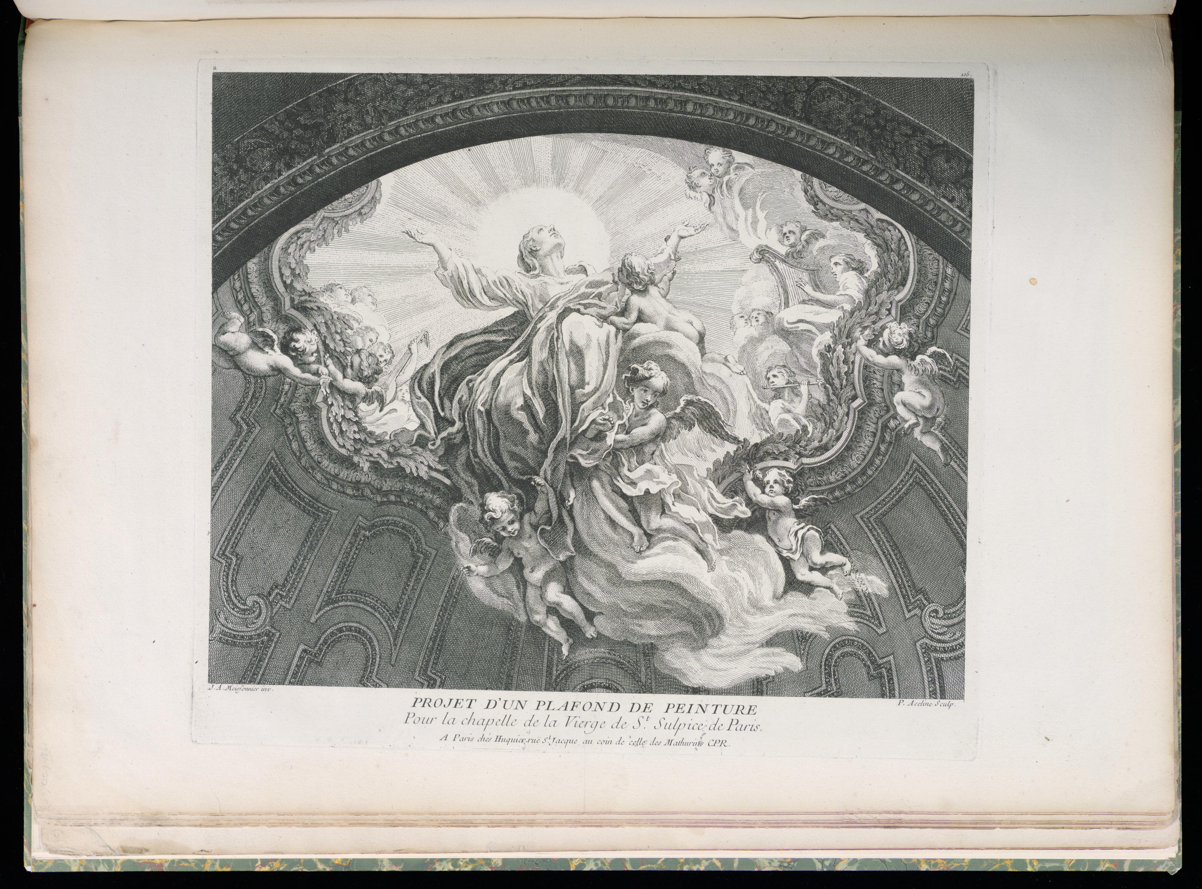 Fileprint Projet Dun Plafond De Peinture Pour La Chapelle De La
