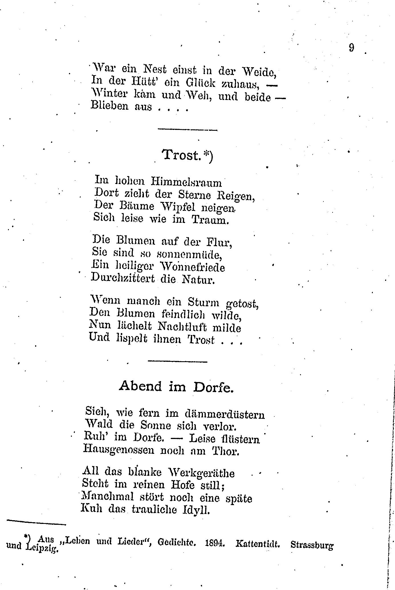 Rilke gedichte trost