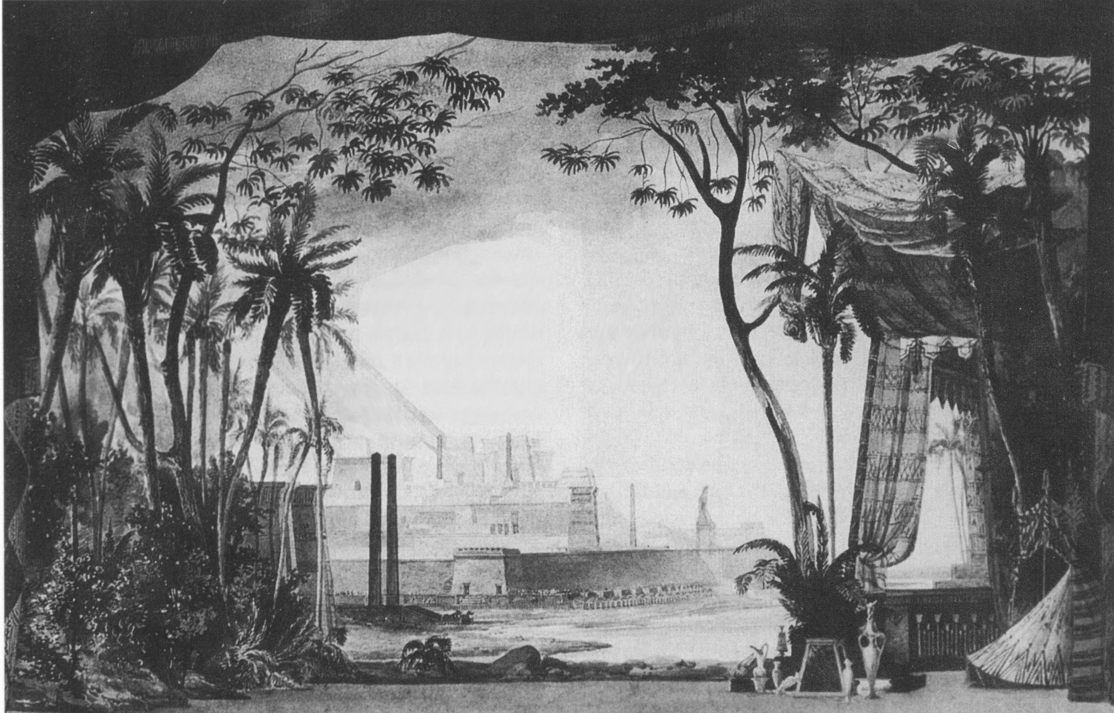 Filerossini moïse et pharaon 1 scene engraving by auguste caron after drafts by pierre cicéri opéra paris 1827 png