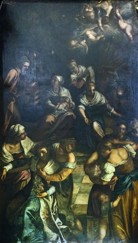 File:Santi Apostoli (Venice) - La nascita della Vergine (1599) Giovanni
