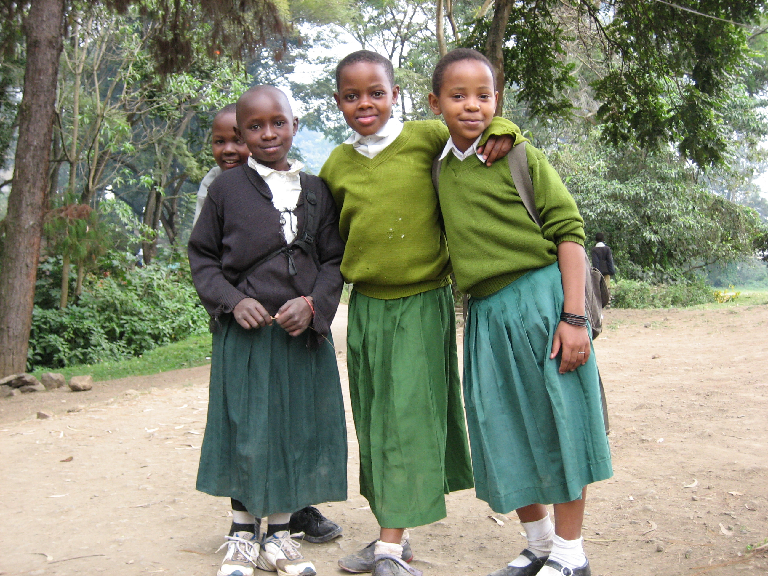 Description school kids in tanzania
