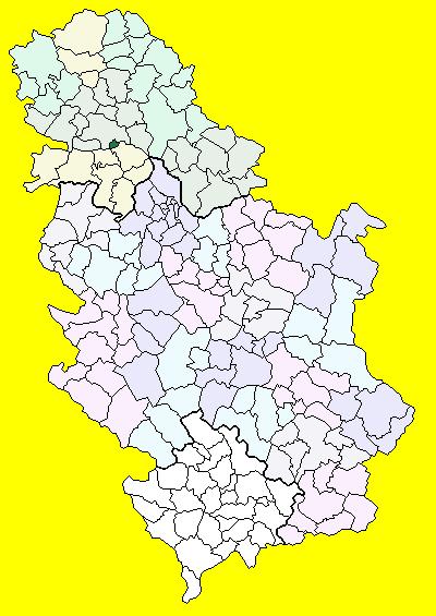 sremski karlovci mapa Srijemski Karlovci (općina) – Wikipedija sremski karlovci mapa