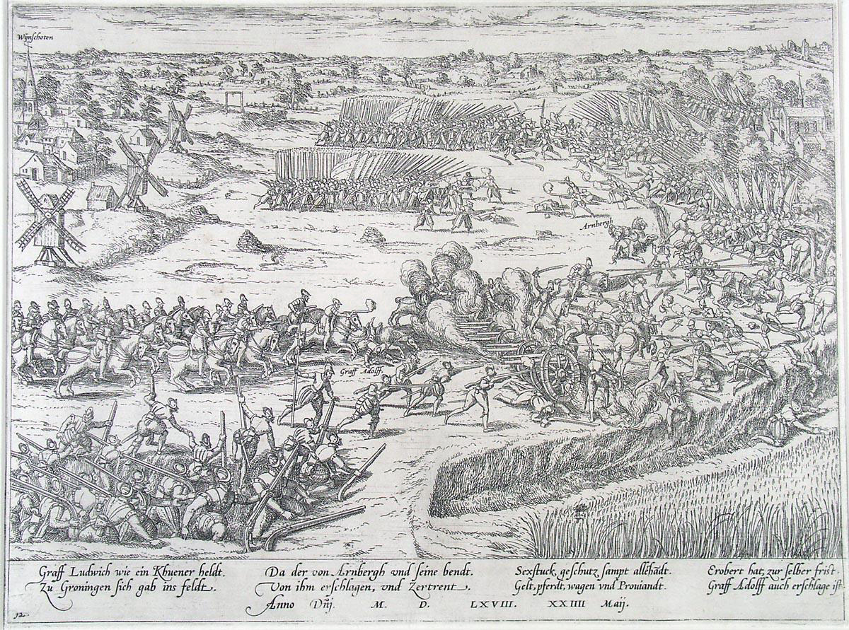 File:Slag bij Heiligerlee - Battle of Heiligerlee - 1568 (Frans Hogenberg).