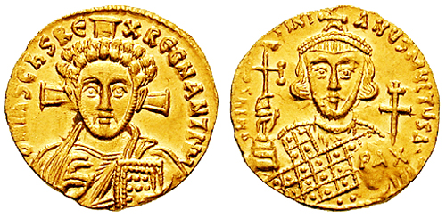 http://upload.wikimedia.org/wikipedia/commons/e/e2/Solidus-Justinian_II-Christ_b-sb1413.jpg