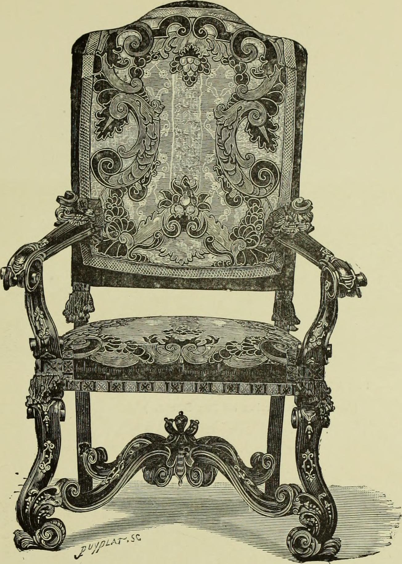 File tapisseries broderies et dentelles recueil de for Chaise de salle a manger kijiji