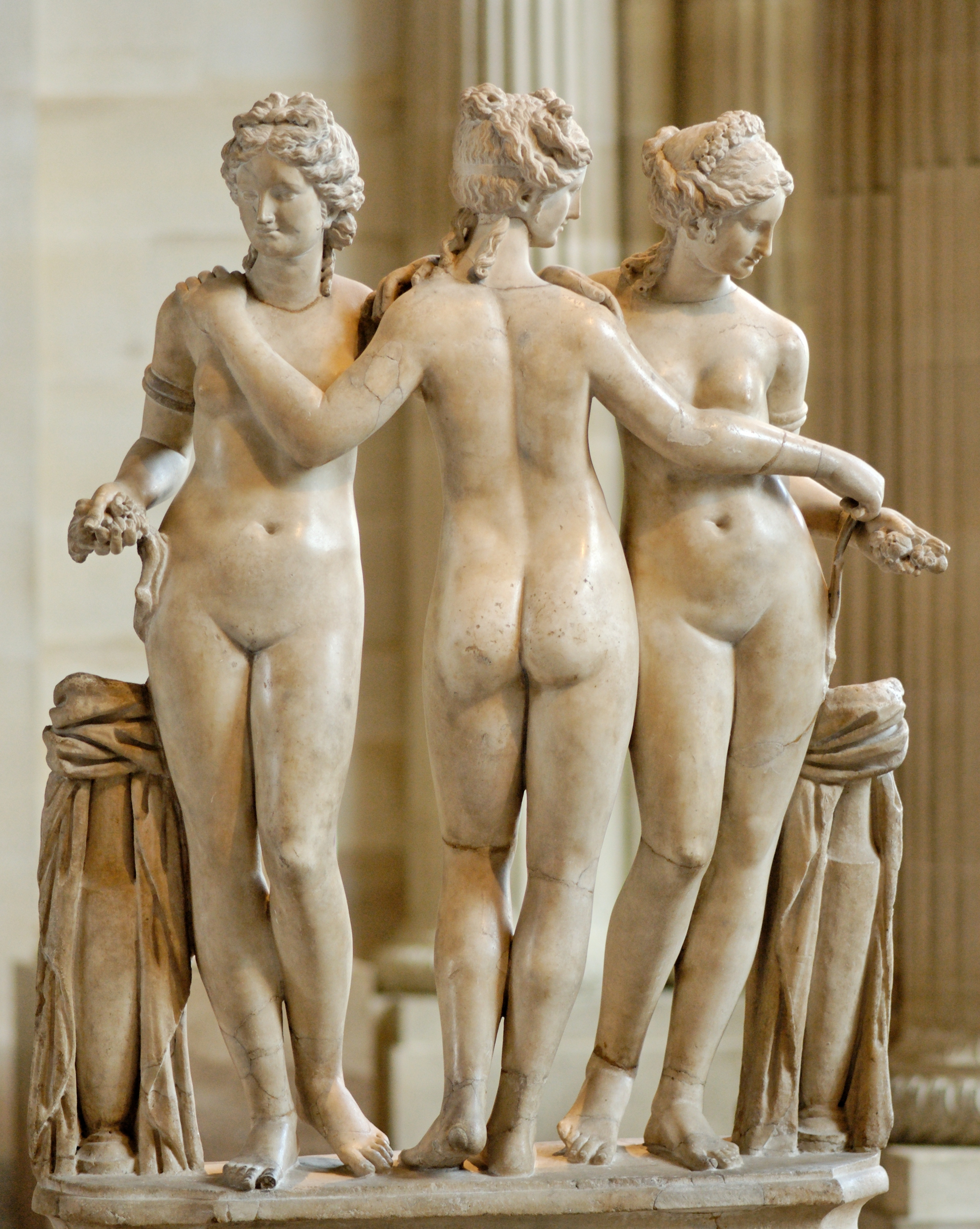 Three muses + nude photography