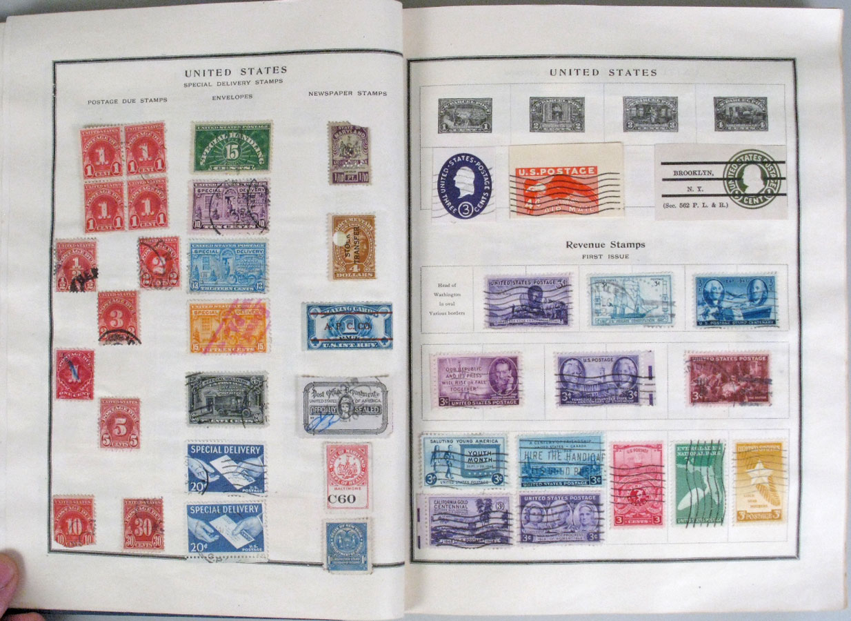 File Us Postage Stamps On Album Pages 3 Jpg Wikimedia Commons
