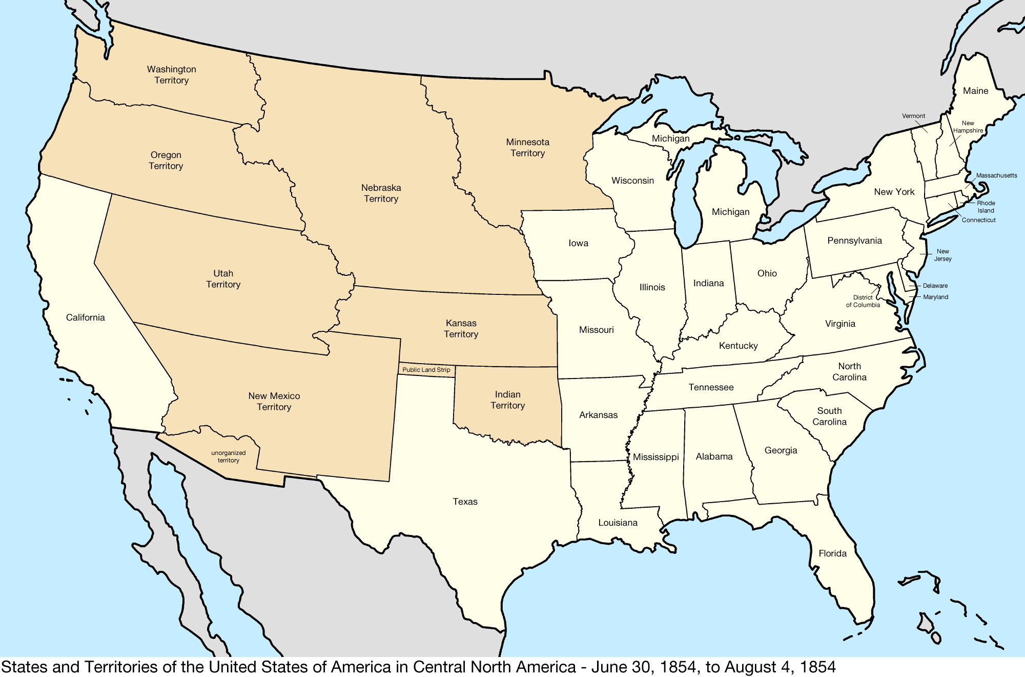 File United States Central Map 1854 06 30 To 1854 08