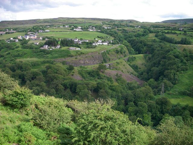 View across the Clydach Gorge - geograph.org.uk - 476253