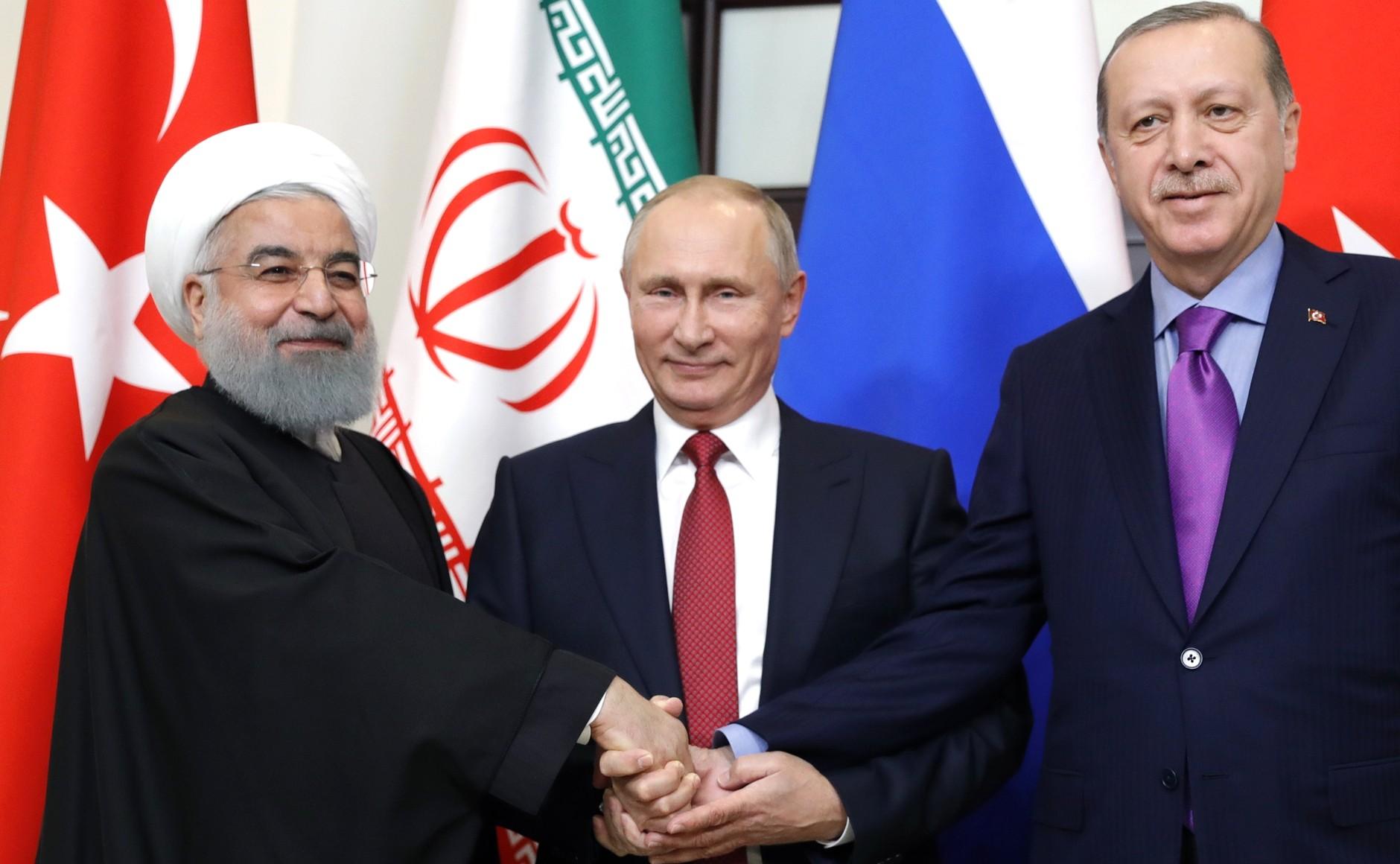 Image result for Putin, erdogan, Rouhani, photos