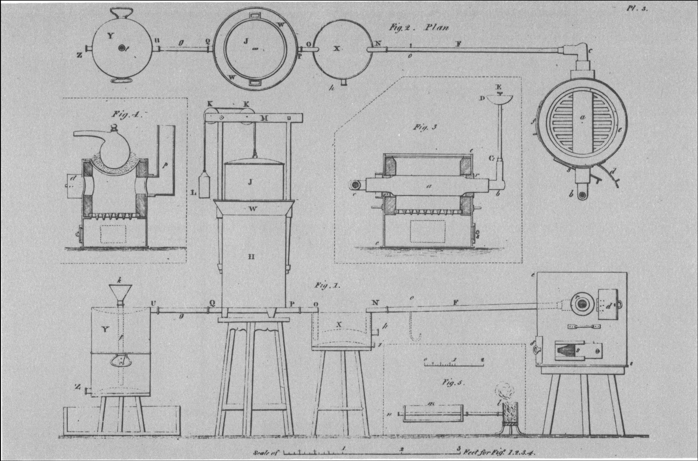 Scientific apparatus designed by Boulton and Watt in preparation of the Pneumatic Institution in Bristol