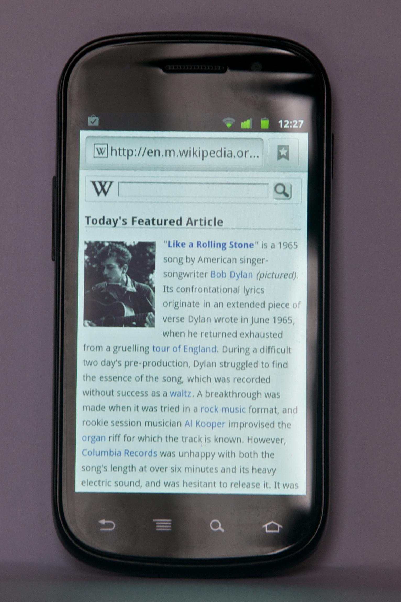 Nexus S Wikipedia Bahasa Indonesia Ensiklopedia Bebas