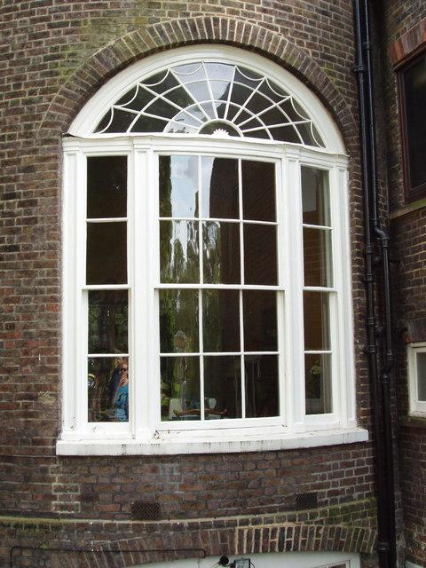 Window at Kelmscott House, Hammersmith, by David Hawgood